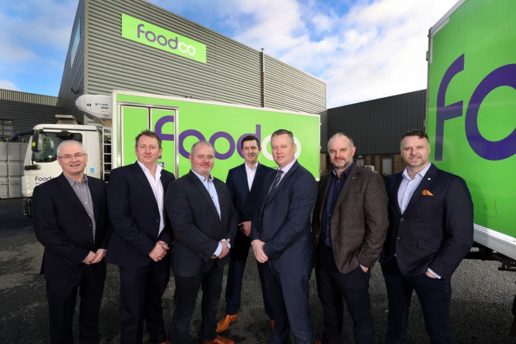 Henderson Foodservice and Foodco directors after announcing acquisition